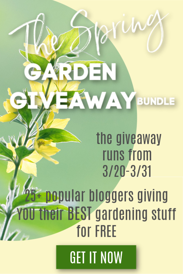 The Spring Garden Giveaway starts on March 20th, 2019