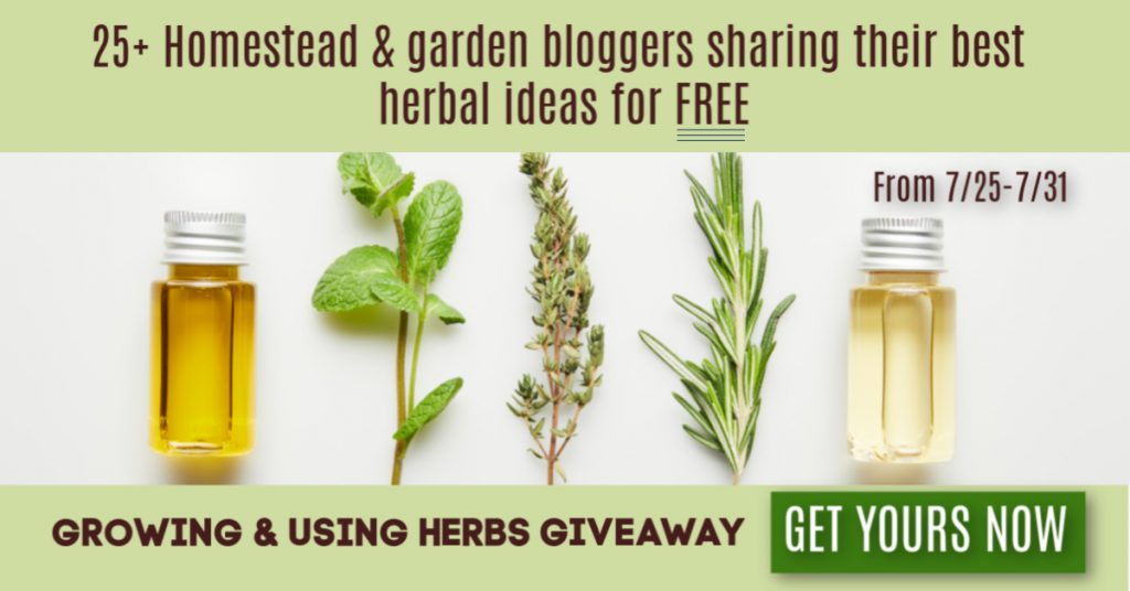 25+ Homestead and Gardening Bloggers share their best herbal ideas with you in this giveaway. If you love herbs, you're going to love this!