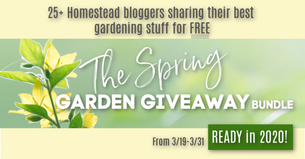 Sign up for the SPring Garden Giveaway - it;s ready in March 2020