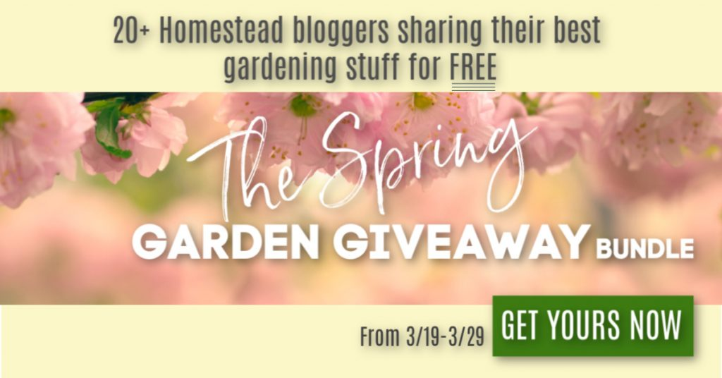 the 2nd Annual Spring Garden Giveaway starts March 19th