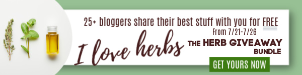 The 2nd Annual Growing  Using Herbs Giveaway starts 7/21/20